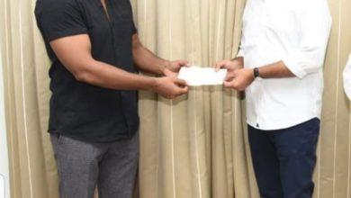 Photo of కరోనా మహమ్మారి నివారణార్ధం హీరో సాగర్ 5 లక్షల విరాళం