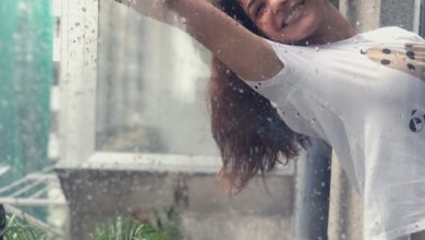 Photo of Kajal raining moments latest pictures