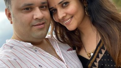 Photo of Anasuya Bharadwaj with her Husband