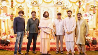 Photo of One more pic from Nithiin Pelli koduku function : #TrivikramSrinivas, @vamsi84, @PawanKalyan, #Venkat, @actor_nithiin and #SudhakarReddy (Nithiin's father) @SitharaEnts #NithiinWeddingOnJuly26 #NithiinShalini