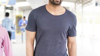Photo of Hero Nagashaurya spotted at Hyderabad International Airport off to Dubai for VaruduKaavalenu shoot.