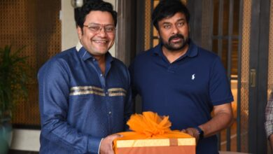 Photo of Teaser Launch of Sashi Movie which was unveiled by MEGASTAR