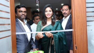 Photo of Tollywood actress Anjali grand opening fortunes 99 homes at Kothapet