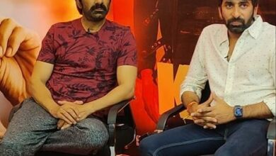 Photo of Pictures of Mass Maharaja Raviteja and Dongopichand during Krack TV interviews
