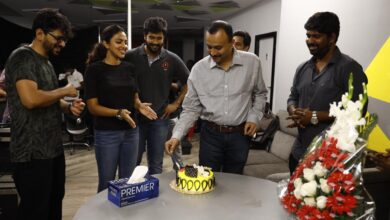 Photo of Team KudiYedamaithe Celebrated Producer Vishwaprasad Birthday on the sets today