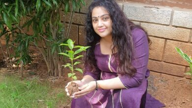 Photo of Actress Meena Accepted Green India Challenge