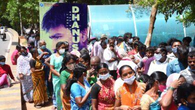 Photo of Hero Dhanush birthday celebration @Hyderabad @svcllp organised